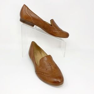 Naturalizer Lerato Brown Leather Flats Size 8.5